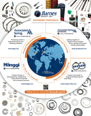 Barnes Engineered Components Advert in Transmission Technology International